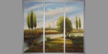 Breh pri rieke, ručne maľovaný obraz