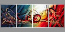 Maľovaný obraz ručne, Abstract