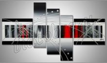 Moderný päť obraz, obraz maľovaný ručne