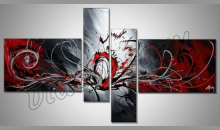 Mohutný tresk, obraz maľovaný ručne