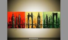 Ručne malovaný obraz mesta