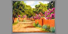 Cesta do raja, obraz ručne maľovaný