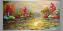 Farebná príroda, ručne maľovaný obraz
