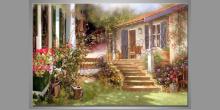Beautiful  house, ručne maľovaný obraz