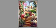 Druhy kvetov, ručne maľovaný obraz