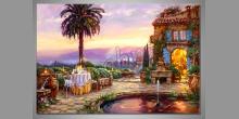 Grand hotel, ručne maľovaný obraz