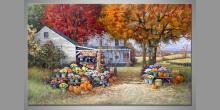 Maľovaný obraz ručne, Domček v prérií