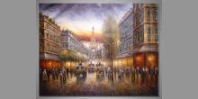 Mesto Paríž, umelecky maľovaný obraz