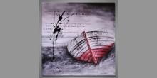 Čelo člnu, ručne maľovaný obraz