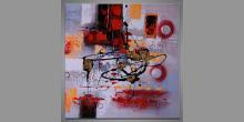 Chaos maľovaný obraz ručne, Moderné umenie