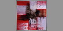Dark  town moderné umenie, maľovaný obraz ručne