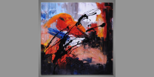 Hra na husle obraz Moderné umenie, ručne maľovaný