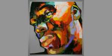 Black man, Obraz maľovaný ručne