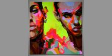 Dve tváre, umelecky obraz
