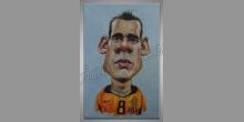 Futbalista, ručne maľované