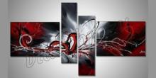 4. Dielny červený obraz, maľované ručne