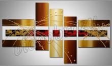 Zlato v obraze, obraz ručne maľovaný