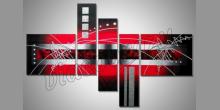 5. Dielny obraz black versus red, maľované ručne