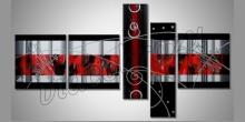 5. Dielny obraz červeno-čierny, maľované ručne