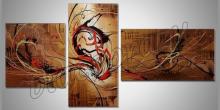 Abstrakt v zlate, umelecky maľovaný obraz