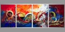Abstraktne ručne maľovaný obraz
