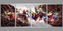 Farebný abstract, obraz  je ručne maľovaný