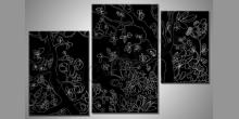 Čierna príroda, obraz  je maľovaný ručne