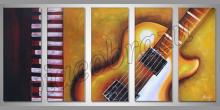Guitar, ručne maľované