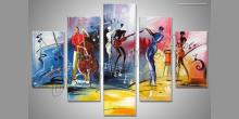 Hudobná skupina, maľované ručne