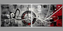 Kruh, umelecky maľovaný obraz