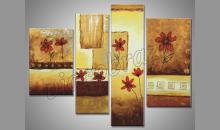 Kvietky v obraze, ručne maľovaný obraz