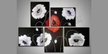 Čierný päť obraz, ručne maľované