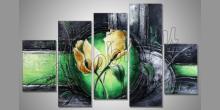 Dva tulipany, umelecky maľovaný obraz