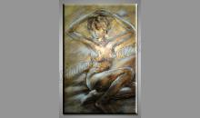 Nahá žena, obraz  je maľovaný ručne