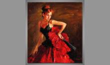 Portrét ženy, maľované ručne