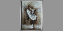 Tancujúca balerína, ručne maľovaný obraz