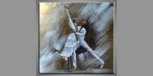 Tancujúci pár, obraz  je maľovaný ručne