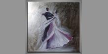Tanečníci, obraz  je maľovaný ručne