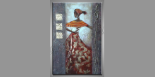 V kroji, ručne maľovaný obraz