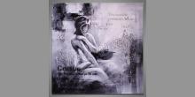 Woman, obraz maľovaný ručne