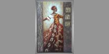 Žena v kroji, ručne maľovaný obraz