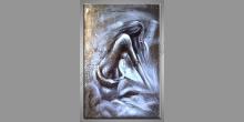 Žena, obraz  je maľovaný ručne