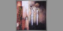 Ženy s džbánmi, maľovaný obraz ručne