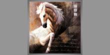 Biely kôň, obraz ručne maľovaný