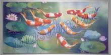 Hrajúce sa ryby ,maľované ručne