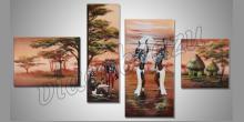 Africký tanec, maľované ručne