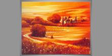 Cesta k domu, ručne maľovaný obraz