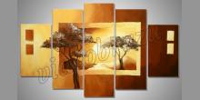 Dva stromy, umelecky obraz