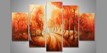 Jesenná prechádzka, umelecky maľovaný obraz