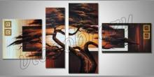 Košatý strom, ručne maľované